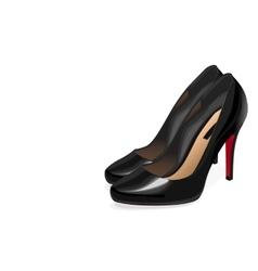 Black women shoes vector image