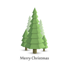 Christmas tree in the woods flat style vector