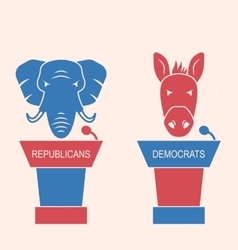 Concept of debate republicans and democrats vector