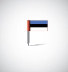 estonia flag pin vector image vector image