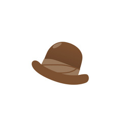 flat style icon of traditional english bowler hat vector image
