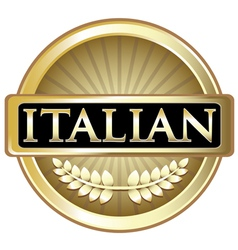 Italian Gold Label vector image vector image
