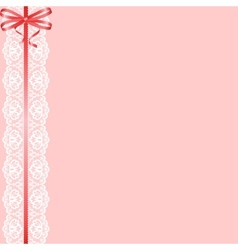 lace ribbon and bow vector image vector image