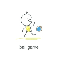 Man plays with the ball vector image vector image