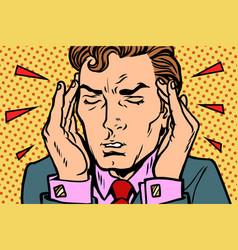 man with severe headache vector image
