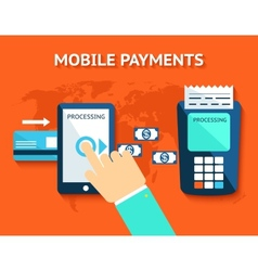 Mobile payments and near field communication nfc vector