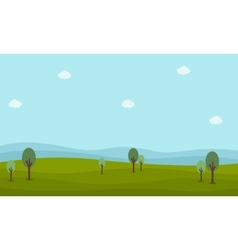 Nature landscape with hill vector