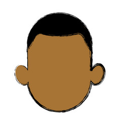 portrait man male avatar people vector image