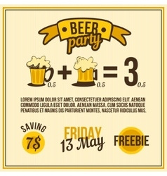 poster beer vector image