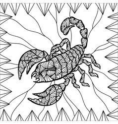 Stylized scorpion vector