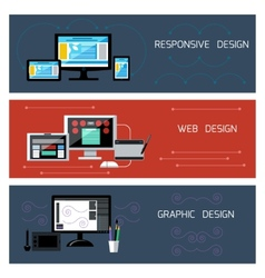 Web design responsive and graphic design vector