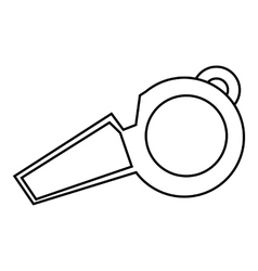 Whistle of referee icon outline style vector image
