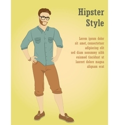 young handsome man in casual clothes or more vector image
