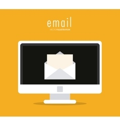 Envelope and computer icon email design vector