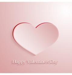 Pink love heart vector