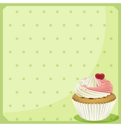 A blank stationery with a cupcake vector