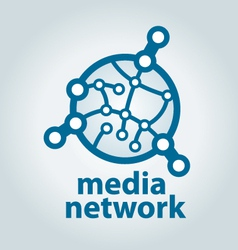 Logo and electronic media network vector