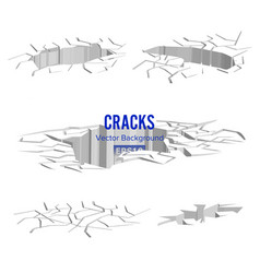 cracks in the ground  split damage after vector image