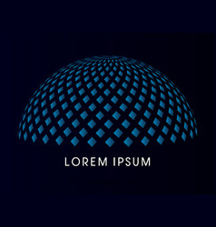 Abstract building dome vector