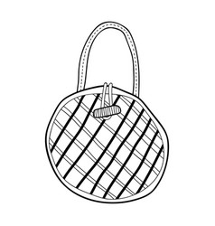 Bag fashion accessory black and white vector