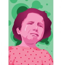 Girl cry vector