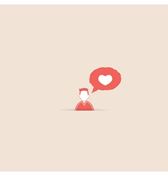 User message heart show the love vector