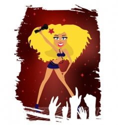 cartoon pop star vector image
