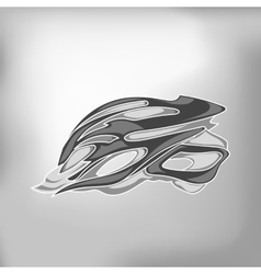 Grey bike helmet vector