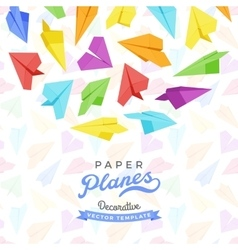 Decorating design made of paper planes vector