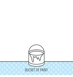 Bucket of paint icon painting box sign vector
