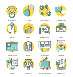 Modern flat line icon concept of business vector