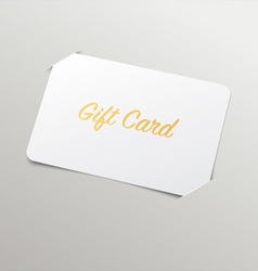 Gift card with golden title vector