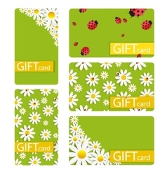 Abstract beautiful gift card design set vector