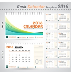 Desk calendar 2016 line abstract design template vector