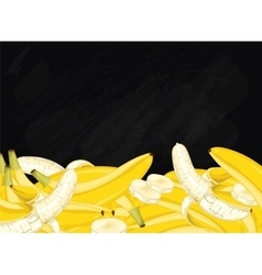 Banana fruit composition on chalkboard vector