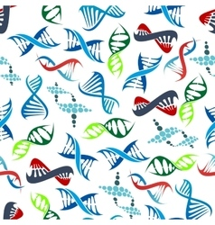 Abstract seamless human DNA helices pattern vector image