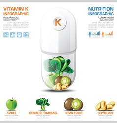 Vitamin k chart diagram health and medical vector