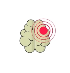 Abstract human brain injury stroke cartoon vector image vector image