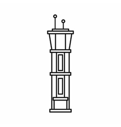 Airport control tower icon outline style vector