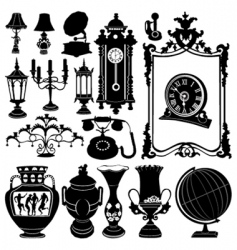 antique objects vector image vector image