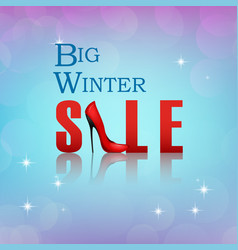 banner big winter sale poster vector image vector image