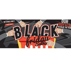 Black Friday Sale Marketing Promotion Banner vector image
