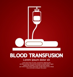 Blood Transfusion vector image vector image