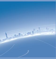 Brisbane skyline aerial view vector