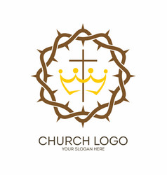 crown of thorns and cross vector image