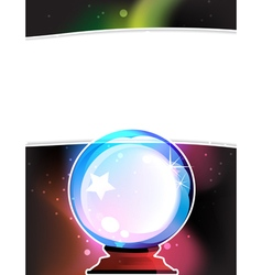 Crystal ball vector image vector image