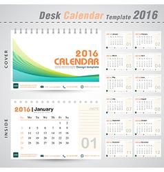 Desk calendar 2016 line abstract design template vector image