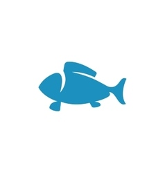 Fish Icon logo element for template vector image vector image