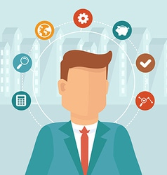 manager concept in flat style vector image vector image