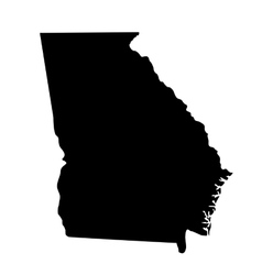 Map of the us state georgia vector